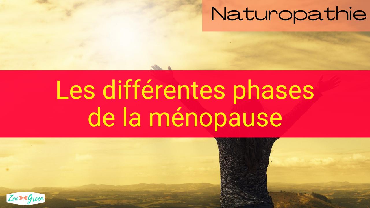 Les différentes phases de la ménopause
